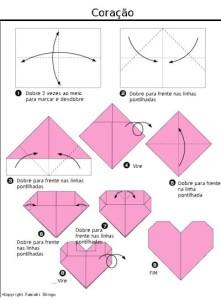 É muito simples fazer o coração de origami