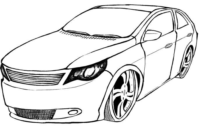 Desenho Para Colorir De Carros Disney: Desenhos De Carro Para Colorir