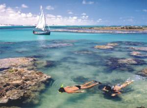 Praia para quem gosta de mergulhar