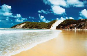 A praia mais visitada em natal