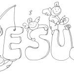 Desenhos para colorir de Jesus
