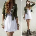 Fotos de modelo de vestido branco