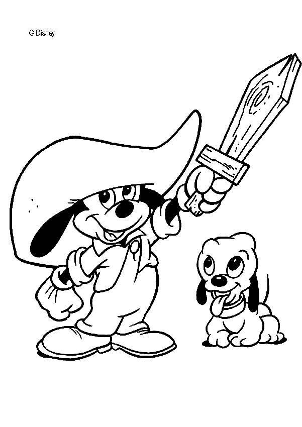 Desenhos para colorir do Mickey