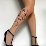 Tatuagem feminina na perna – Fotos