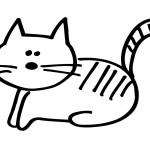 Desenho de gato para colorir | pintar