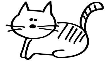 Desenho de gato para colorir pintar