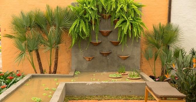 jardins quintal pequeno: você ter uma ideia de como montar o seu jardim pequeno com coqueiros