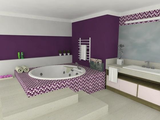 Imagens de azulejos para banheiro -> Banheiro Com Pastilha Vermelha E Branca