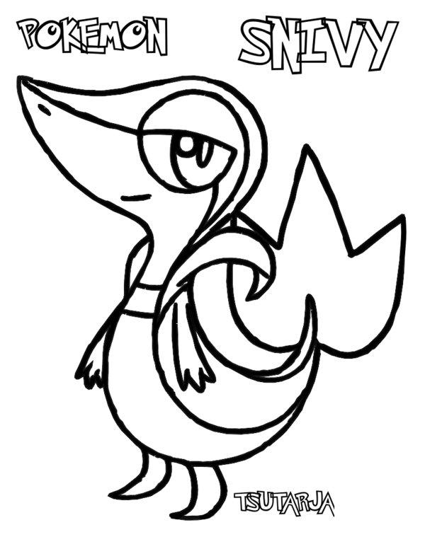 pokemon coloring pages pansage black - photo#14