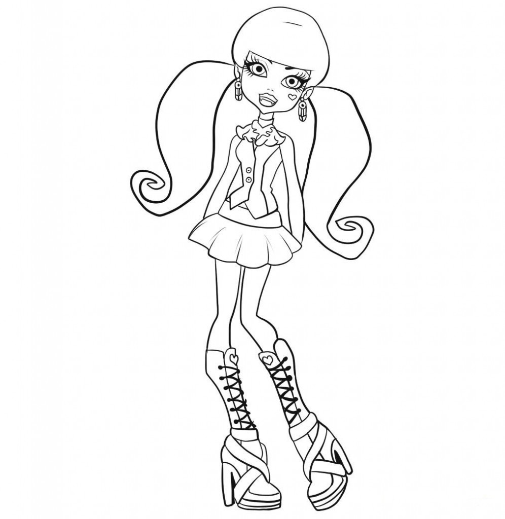Desenho Monster High Para Colorir Dicas Uteis Brasil