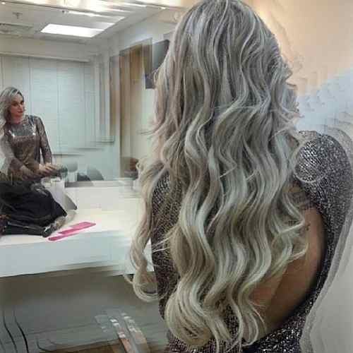 Fotos de cabelos loiro acinzentado