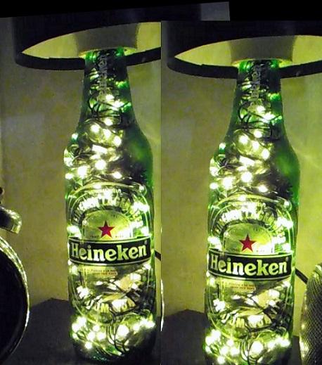 Como fazer uma luminária com garrafa