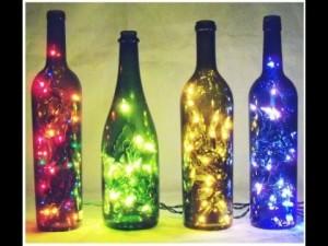 Como fazer uma luminária com garrafa 2