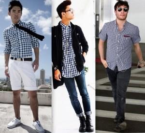 Fotos modelos camisas masculinas xadrez 12
