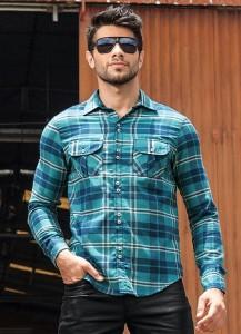 Fotos modelos camisas masculinas xadrez 3