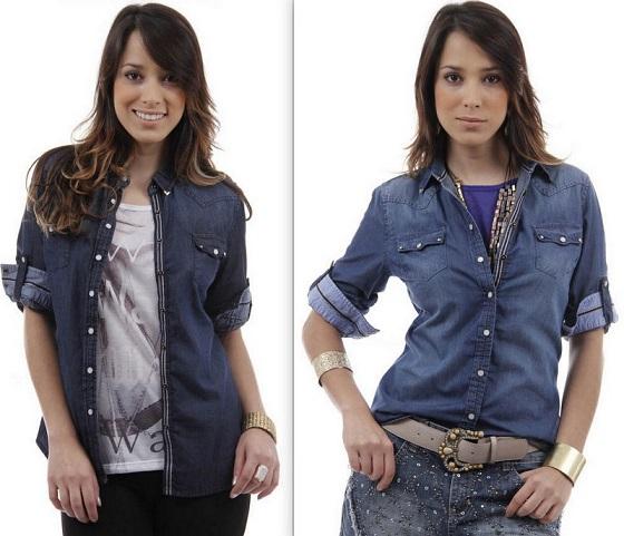 Fotos modelos de camisa jeans feminina