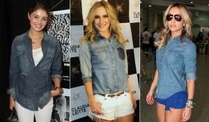 Fotos modelos de camisa jeans feminina 2