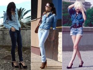 Fotos modelos de camisa jeans feminina 3