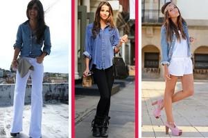 Fotos modelos de camisa jeans feminina 4