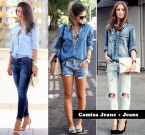 Fotos modelos de camisa jeans feminina 7