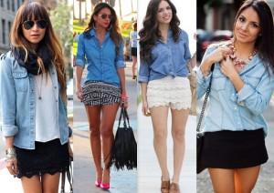 Fotos modelos de camisa jeans feminina 9