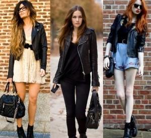 Modelos de jaqueta de couro feminina 13