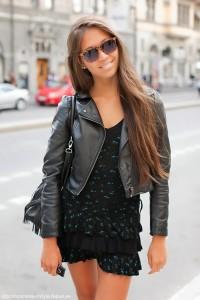 Modelos de jaqueta de couro feminina 4