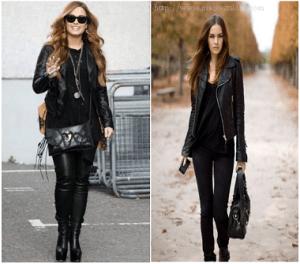 Modelos de jaqueta de couro feminina 6