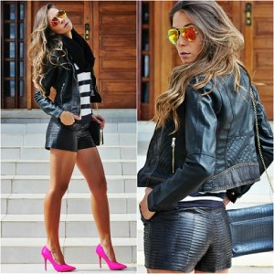 Modelos de jaqueta de couro feminina 8