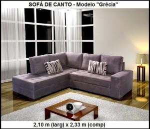 Modelos e fotos sofá de canto pequeno 3