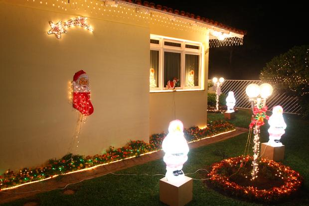 enfeites de natal para jardim iluminados:Fotos de enfeites de natal para jardim