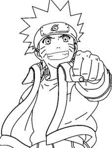 Desenhos para Colorir Pintar do Naruto 3