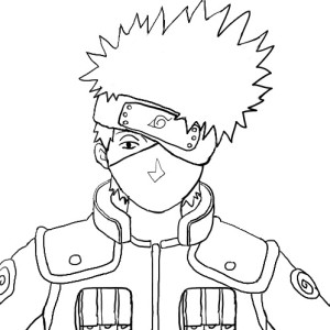 Desenhos para Colorir Pintar do Naruto 4
