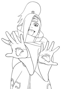 Desenhos para Colorir Pintar do Naruto 7