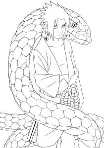 Desenhos para Colorir Pintar do Naruto 9