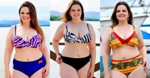 Moda Praia Plus Size Fotos de Biquines 5