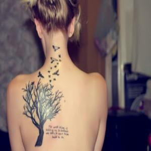 Fotos e ideias Tatuagem Feminina nas Costas 10