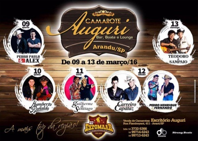 Show EXPOMAAR 2016 na cidade de Arandu 2