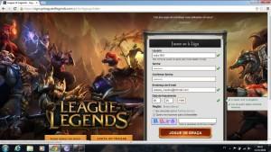 Como criar conta lol League of Legends 2