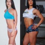 Antes e depois da Academia de Mulheres