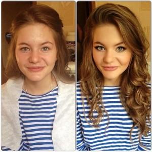 Antes e depois de Mulheres com maquiagem 3