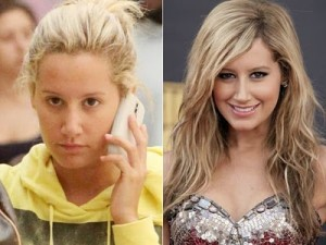 Antes e depois de Mulheres com maquiagem 4