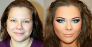 Antes e depois de Mulheres com maquiagem 6