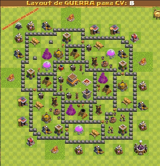 Clash of clans Layout para guerra