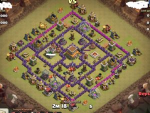 Clash of clans Layout para guerra 12