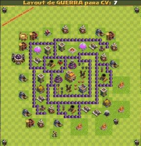 Clash of clans Layout para guerra 2