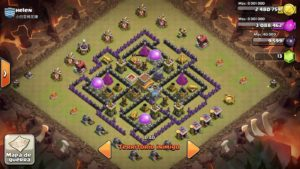 Clash of clans Layout para guerra 3