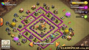 Clash of clans Layout para guerra 6