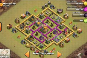 Clash of clans Layout para guerra 8