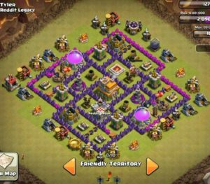 Clash of clans Layout para guerra 9